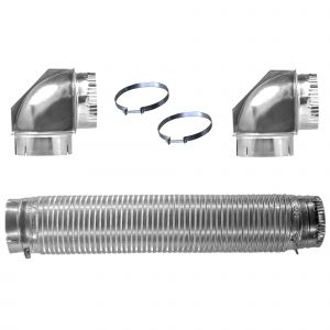 All Metal Dryer Vent Kits with Elbows