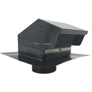GRV Black Galvanized Roof Vent
