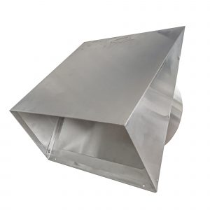 AWM620 Aluminum Heavy Gauge Hood with Flapper