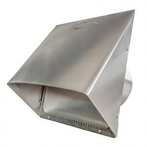 AWM624 Aluminum Heavy Gauge Hood with Flapper & Screen