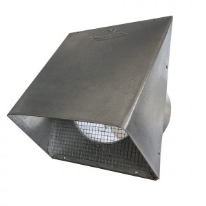 "GWM604 Galvanized Wide Mouth Heavy Hood with 1/4"" screen"