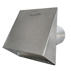 GWM620 Galvanized Wide Mouth Heavy Hood with Flapper