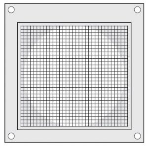 "PML328 Louvered Hood with 1/8"" wire screen"
