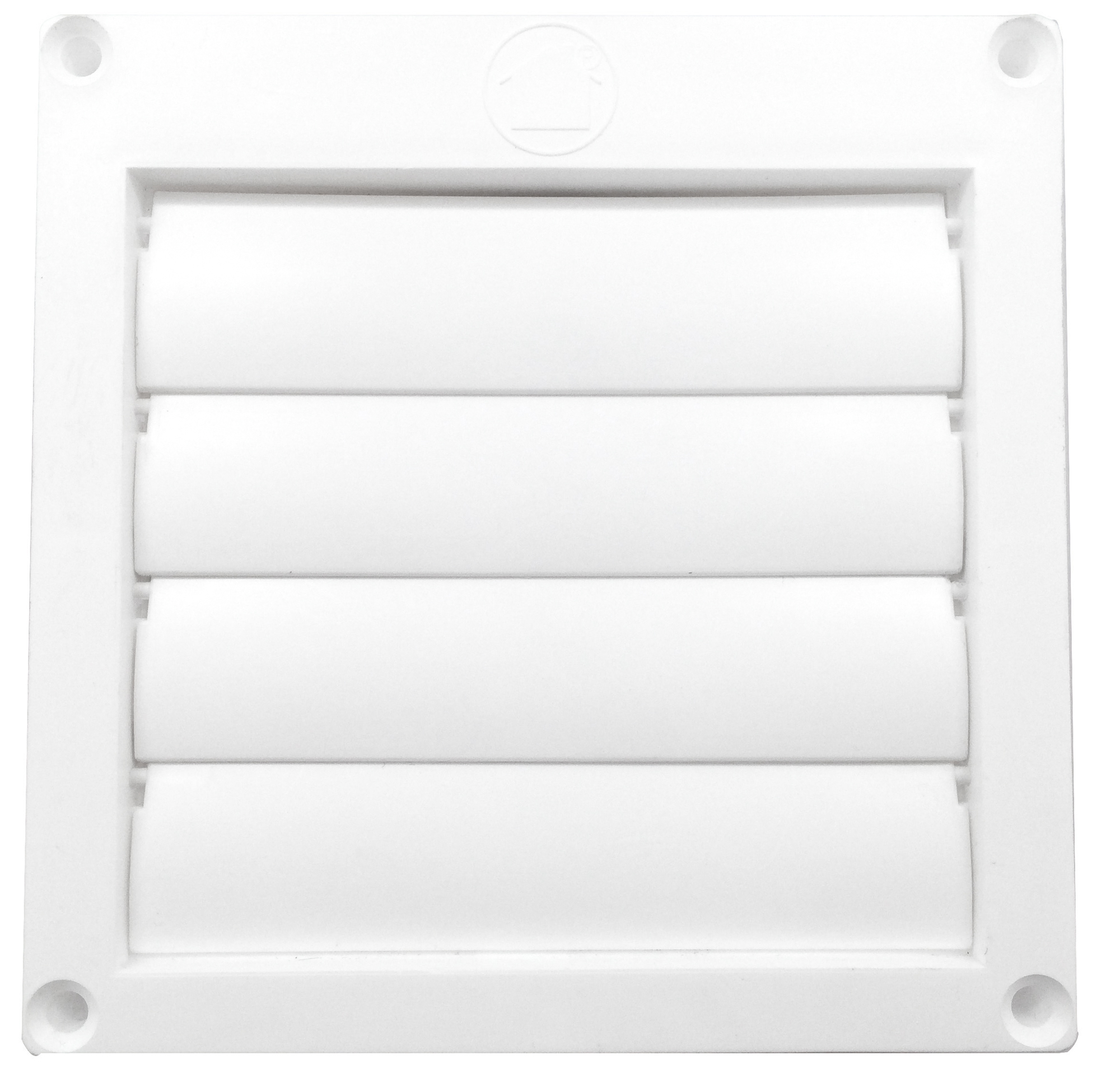 BUILDERS 110282 4-IN DRYER OR BATH LOUVERED VENT WHITE
