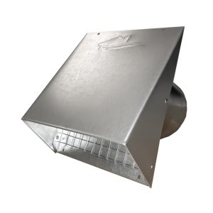 "GWM602 Galvanized Wide Mouth Heavy Hood with 1/2"" screen"